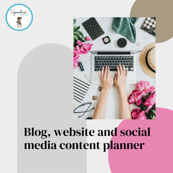 Blog, website and social media content planner