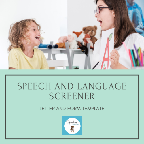 Speech and Language Screener