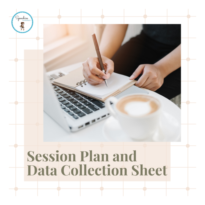 Session Plan and Data Collection Sheet