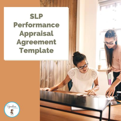 SLP Performance Appraisal Agreement Template