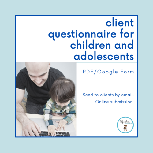 client questionnaire for children and adolescents