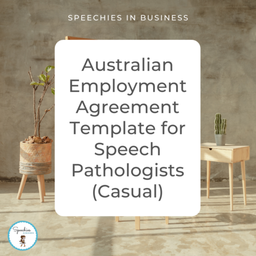Australian Employment Agreement Template for Speech Pathologists Casual