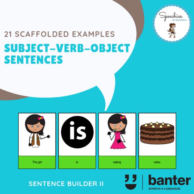 Subject Verb Object SVO Sentences