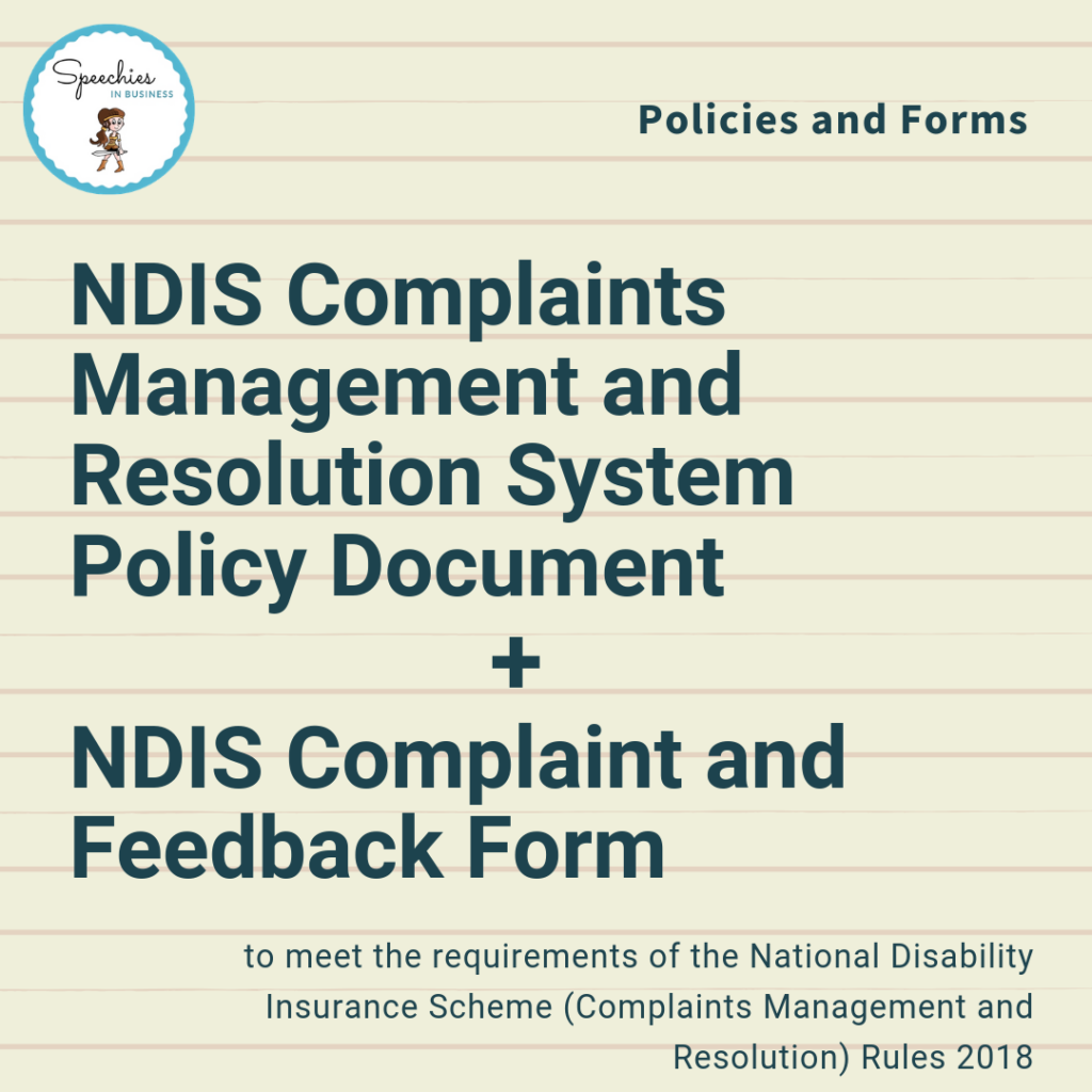 NDIS Complaints Management and Feedback Form