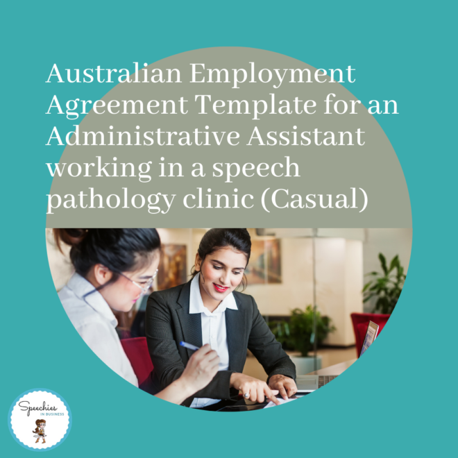 Employment Agreement for Admin Assistant in SLP clinic