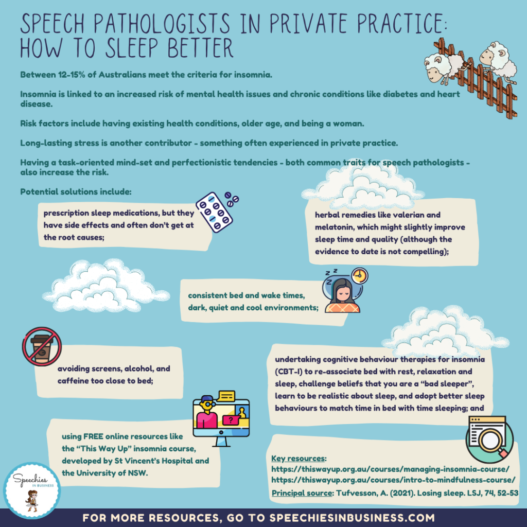 Speech pathologists in private practice How to sleep better