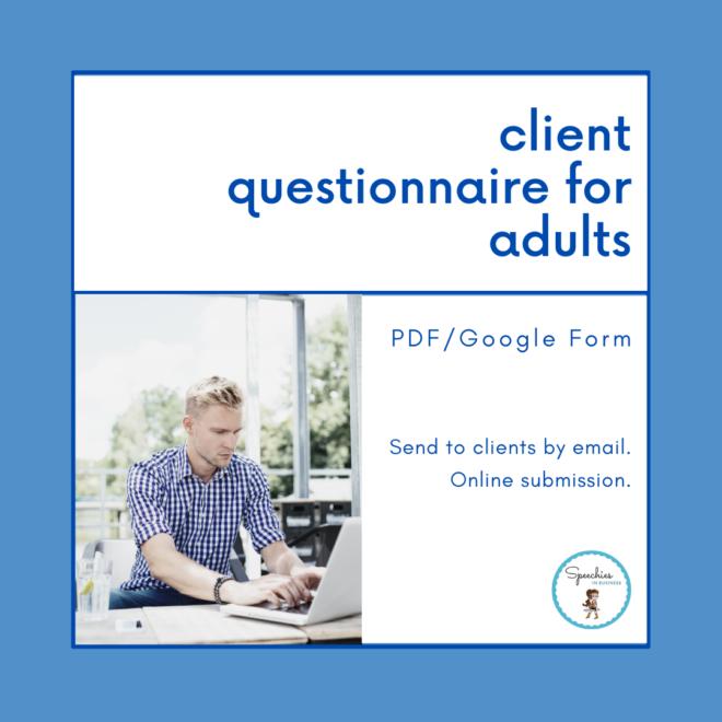 client questionnaire for adults